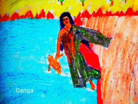 ganga throwing son